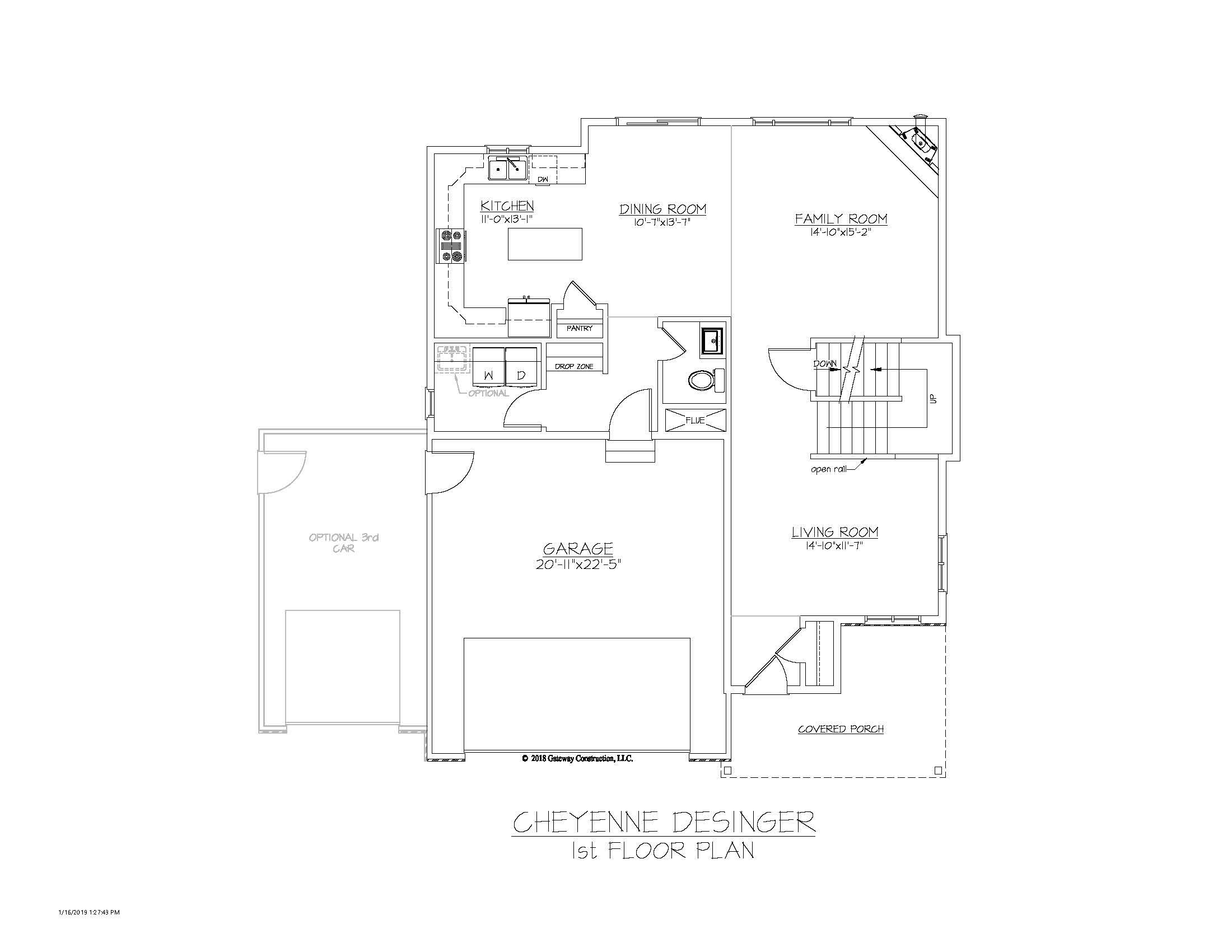 Cheyenne GL 1st Floor Plan - D