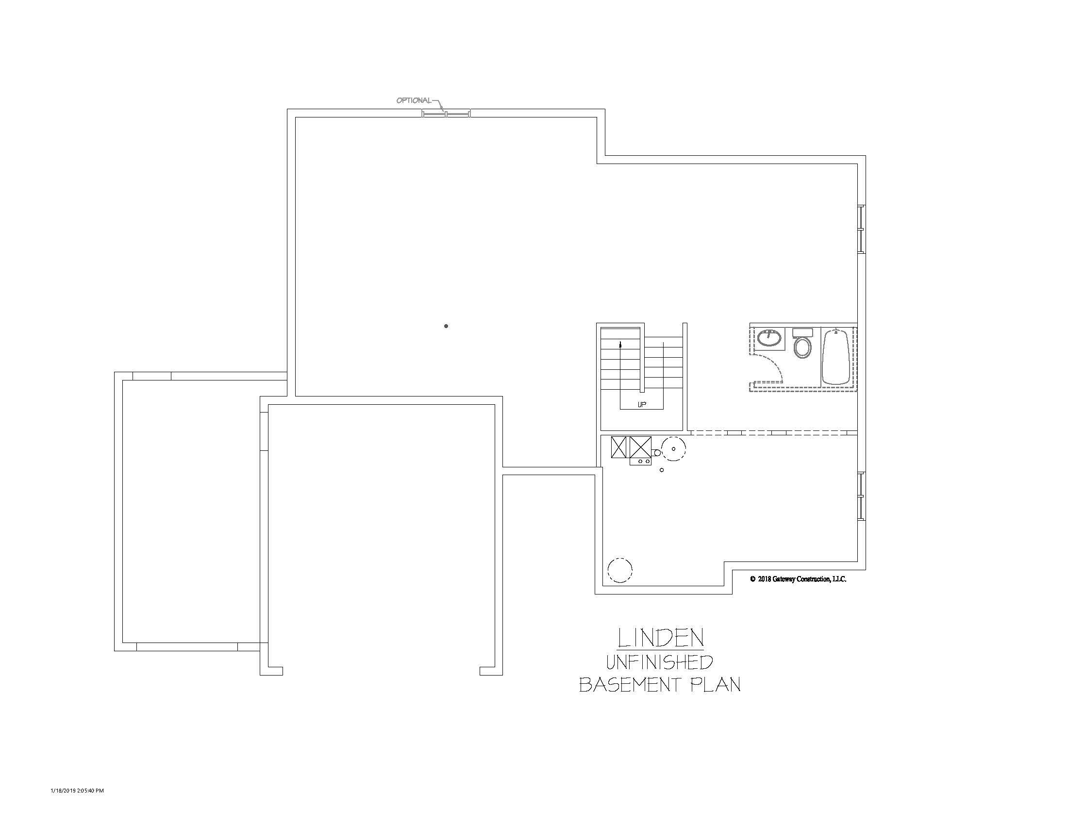 Linden GL Basement Unfinished