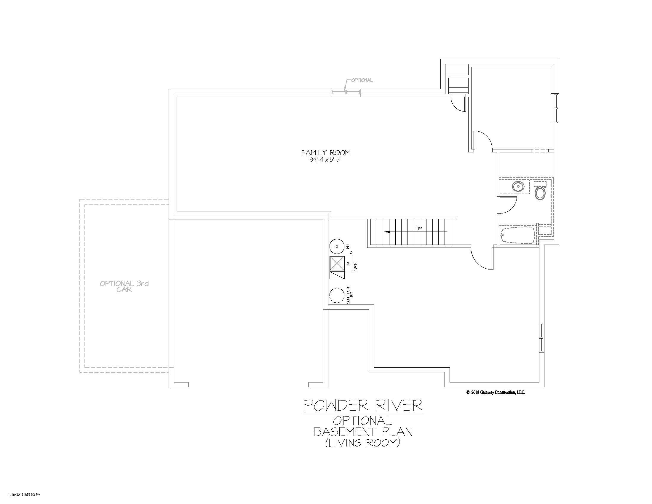 Powder River GL Basement Living Room Finish