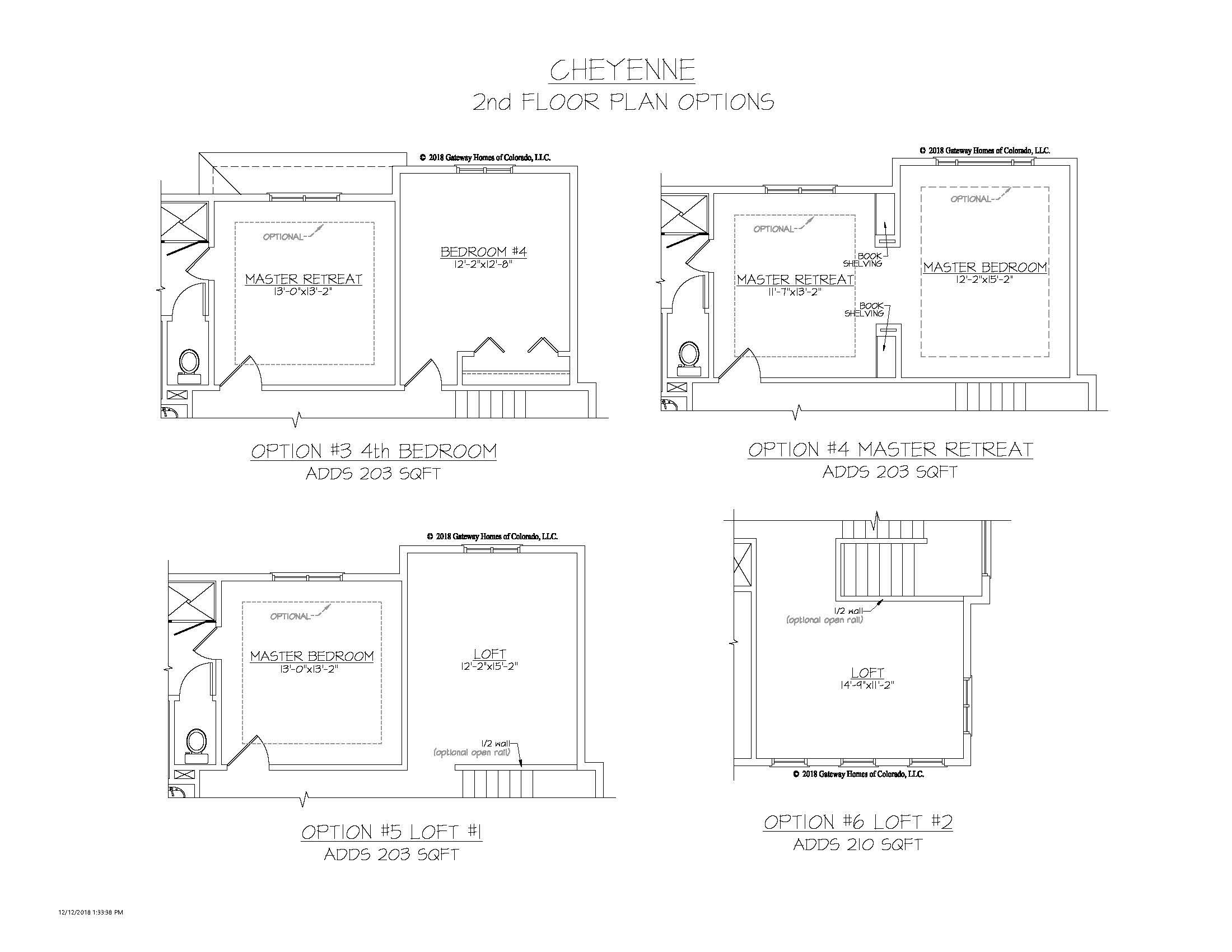 SM Cheyenne 2nd Floor Plan Options
