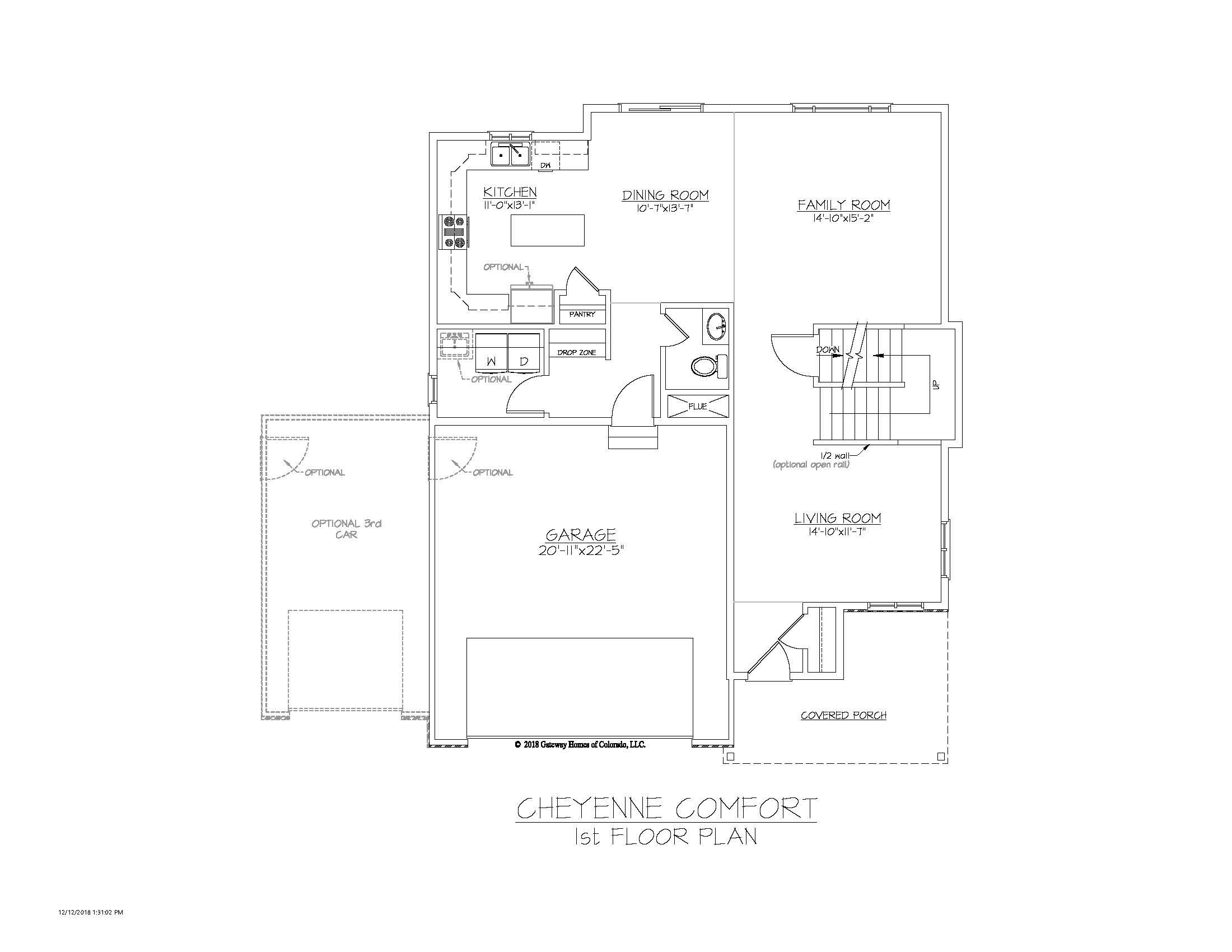 SM Cheyenne Comfort 1st Floor Plan