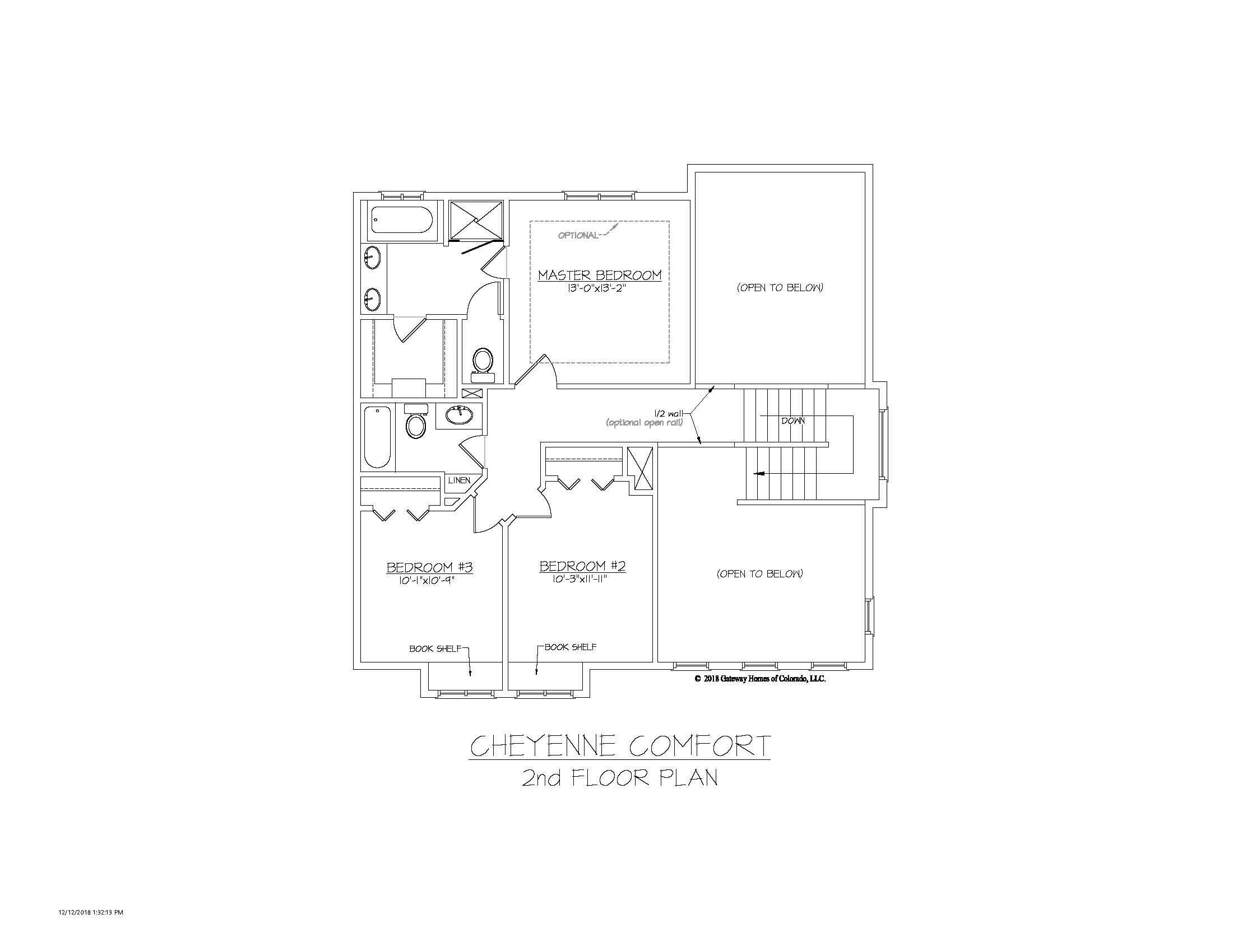 SM Cheyenne Comfort 2nd Floor Plan