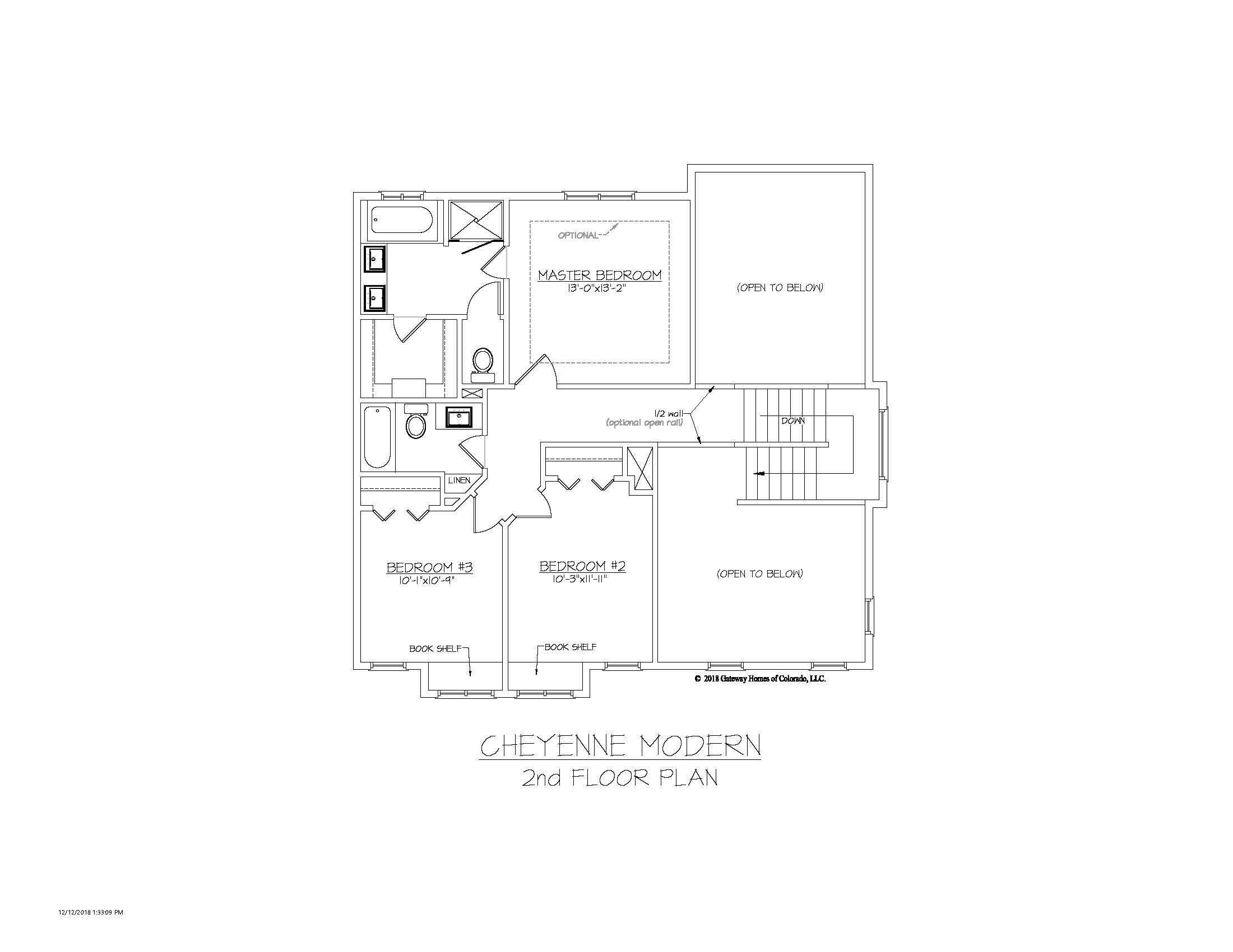 SM Cheyenne Modern 2nd Floor Plan