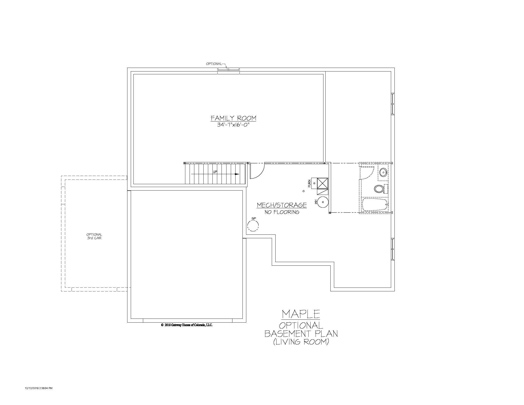 SM Maple Basement Living Room Finsh